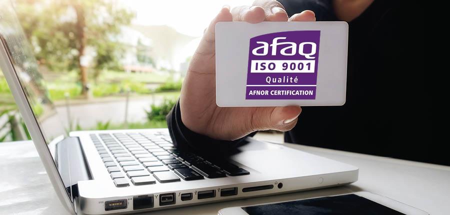 gROUPE aSTEN CERTIFIE ISO 9001